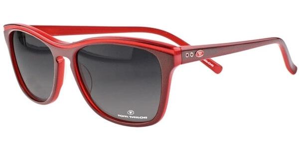 Sluneční brýle Tom Tailor model 63328, barva obruby červená lesk, čočka šedá gradál, kód barevné varianty 864.
