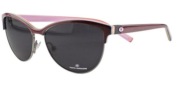 Sluneční brýle Tom Tailor model 63344, barva obruby vínová lesk stříbrná, čočka fialová, kód barevné varianty 910.