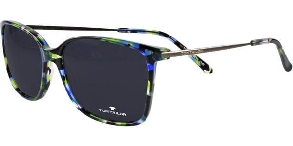 Sluneční brýle Tom Tailor model 63442, barva obruby černá lesk modrá, čočka černá, kód barevné varianty 217.