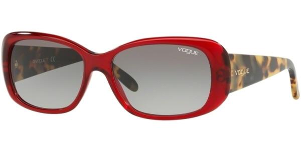 Sluneční brýle Vogue model 2606S, barva obruby červená lesk žlutá, čočka šedá gradál, kód barevné varianty 194711.