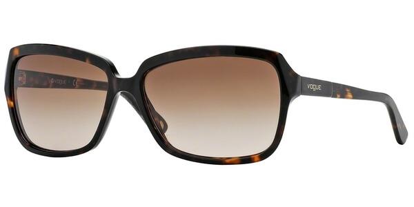 Sluneční brýle Vogue model 2660S, barva obruby hnědá lesk, čočka hnědá gradál, kód barevné varianty W65613.