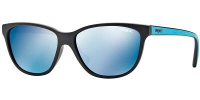 Sluneční brýle Vogue model 2729S, barva obruby černá mat tyrkysová, čočka modrá zrcadlo, kód barevné varianty W4455.