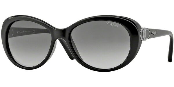 Sluneční brýle Vogue model 2770S, barva obruby černá lesk, čočka šedá gradál, kód barevné varianty W4411.