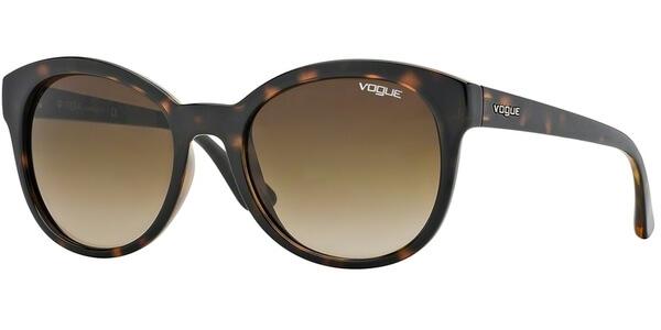 Sluneční brýle Vogue model 2795S, barva obruby hnědá lesk, čočka hnědá gradál, kód barevné varianty W65613.