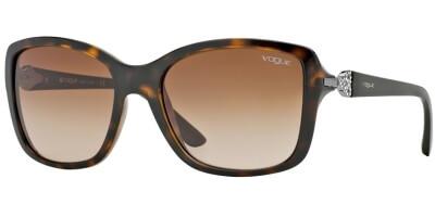 Sluneční brýle Vogue model 2832SB, barva obruby hnědá lesk, čočka hnědá gradál, kód barevné varianty W65613.