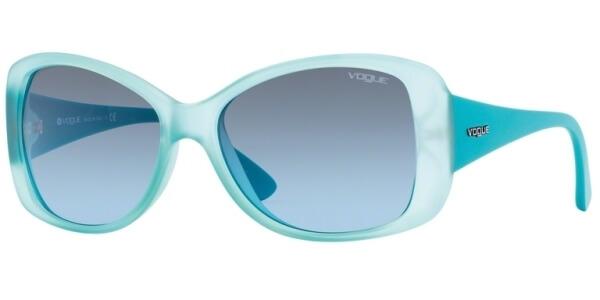 Sluneční brýle Vogue model 2843S, barva obruby tyrkysová mat, čočka modrá gradál, kód barevné varianty 21528F.