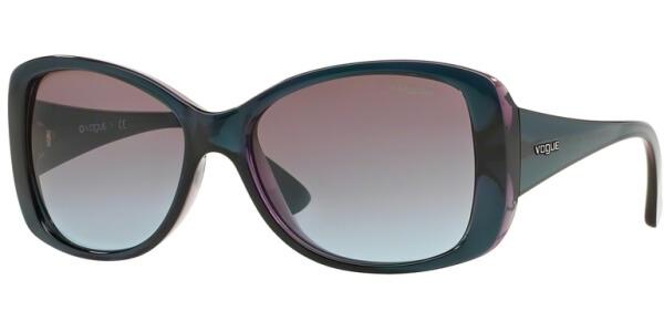 Sluneční brýle Vogue model 2843S, barva obruby tyrkysová lesk fialová, čočka hnědá gradál, kód barevné varianty 226748.