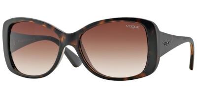 Sluneční brýle Vogue model 2843S, barva obruby hnědá lesk, čočka hnědá gradál, kód barevné varianty W65613.