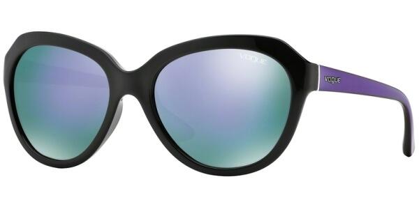 Sluneční brýle Vogue model 2845S, barva obruby černá lesk fialová, čočka fialová zrcadlo, kód barevné varianty W444V.