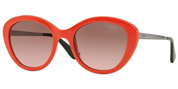 Sluneční brýle Vogue model 2870S, barva obruby oranžová lesk stříbrná, čočka růžová gradál, kód barevné varianty 230814.