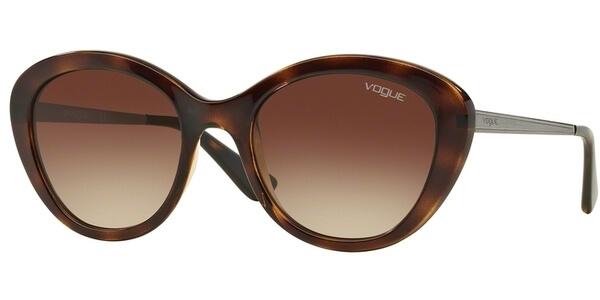 Sluneční brýle Vogue model 2870S, barva obruby hnědá lesk stříbrná, čočka hnědá gradál, kód barevné varianty 235913.