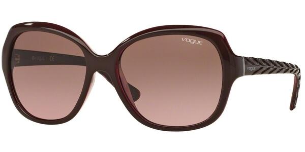 Sluneční brýle Vogue model 2871S, barva obruby vínová lesk, čočka růžová, kód barevné varianty 226214.
