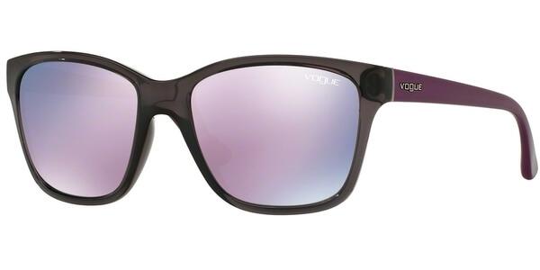 Sluneční brýle Vogue model 2896S, barva obruby šedá lesk fialová, čočka růžová zrcadlo, kód barevné varianty 19055R.