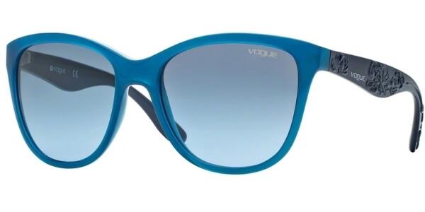 Sluneční brýle Vogue model 2897S, barva obruby modrá lesk, čočka modrá gradál, kód barevné varianty 21098F.
