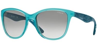 Sluneční brýle Vogue model 2897S, barva obruby tyrkysová lesk, čočka šedá gradál, kód barevné varianty 219611.