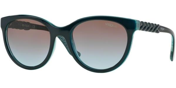 Sluneční brýle Vogue model 2915S, barva obruby modrá lesk tyrkysová, čočka hnědá gradál, kód barevné varianty 226048.