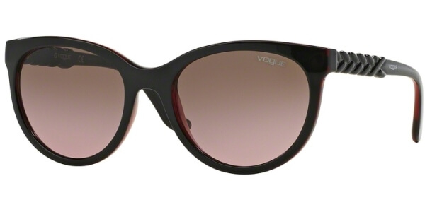 Sluneční brýle Vogue model 2915S, barva obruby hnědá lesk červená, čočka červená gradál, kód barevné varianty 231214.