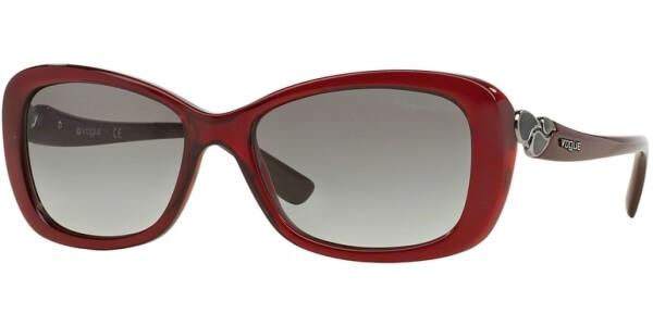 Sluneční brýle Vogue model 2917S, barva obruby vínová lesk, čočka šedá gradál, kód barevné varianty 226411.