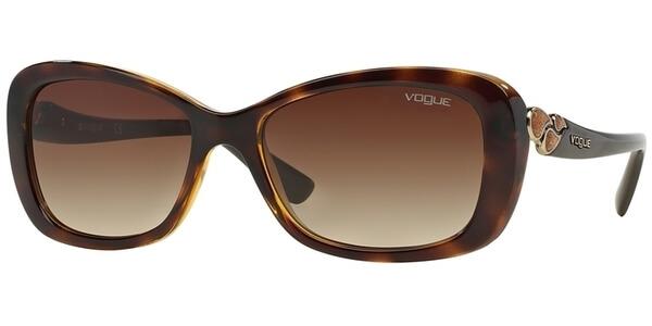 Sluneční brýle Vogue model 2917S, barva obruby hnědá lesk, čočka hnědá gradál, kód barevné varianty W65613.