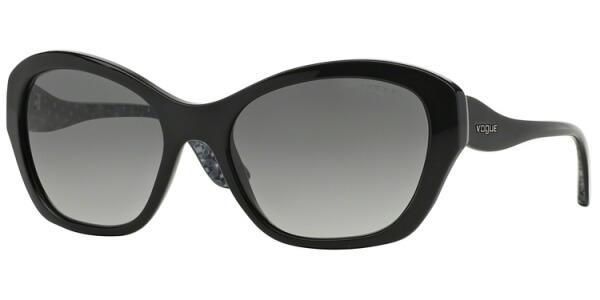 Sluneční brýle Vogue model 2918S, barva obruby černá lesk šedá, čočka šedá gradál, kód barevné varianty W4411.
