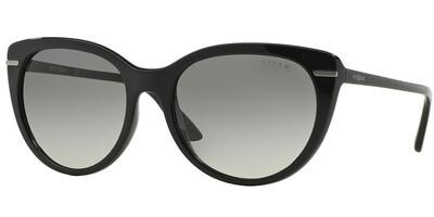Sluneční brýle Vogue model 2941S, barva obruby černá lesk stříbrná, čočka šedá gradál, kód barevné varianty W4411.