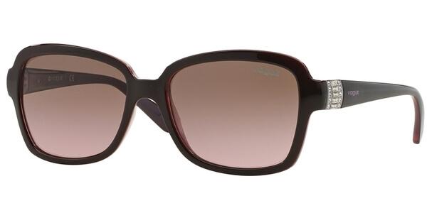 Sluneční brýle Vogue model 2942SB, barva obruby vínová lesk, čočka hnědá gradál, kód barevné varianty 194114.