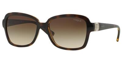 Sluneční brýle Vogue model 2942SB, barva obruby hnědá lesk, čočka hnědá gradál, kód barevné varianty W65613.