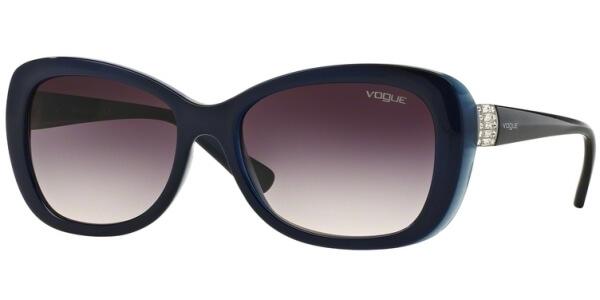 Sluneční brýle Vogue model 2943SB, barva obruby modrá lesk, čočka růžová gradál, kód barevné varianty 238836.