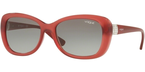 Sluneční brýle Vogue model 2943SB, barva obruby červená lesk, čočka šedá gradál, kód barevné varianty 261211.