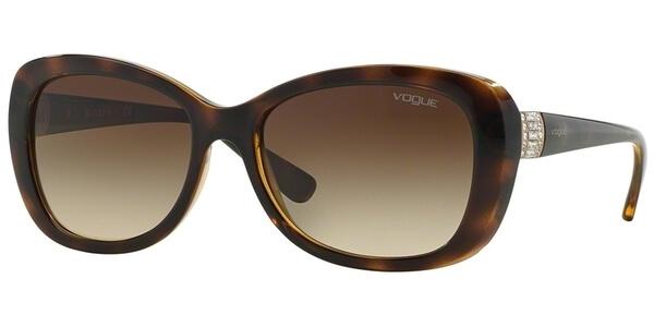 Sluneční brýle Vogue model 2943SB, barva obruby hnědá lesk, čočka hnědá gradál, kód barevné varianty W65613.