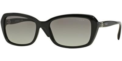 Sluneční brýle Vogue model 2964SB, barva obruby černá lesk, čočka šedá gradál, kód barevné varianty W4411.