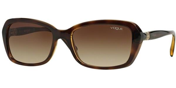 Sluneční brýle Vogue model 2964SB, barva obruby hnědá lesk, čočka hnědá gradál, kód barevné varianty W65613.