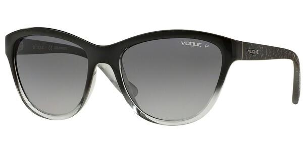 Sluneční brýle Vogue model 2993S, barva obruby černá lesk šedá, čočka šedá gradál polarizovaná, kód barevné varianty 1880T3.