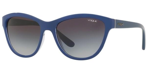 Sluneční brýle Vogue model 2993S, barva obruby modrá lesk, čočka šedá gradál, kód barevné varianty 24078G.