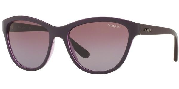 Sluneční brýle Vogue model 2993S, barva obruby fialová lesk, čočka fialová gradál, kód barevné varianty 24098H.