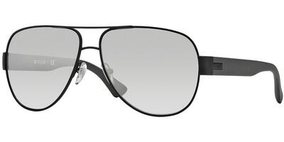 Sluneční brýle Vogue model 3906S, barva obruby černá mat šedá, čočka stříbrná zrcadlo gradál, kód barevné varianty 937S6V.