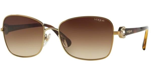 Sluneční brýle Vogue model 3982SB, barva obruby zlatá mat hnědá, čočka hnědá gradál, kód barevné varianty 84813.