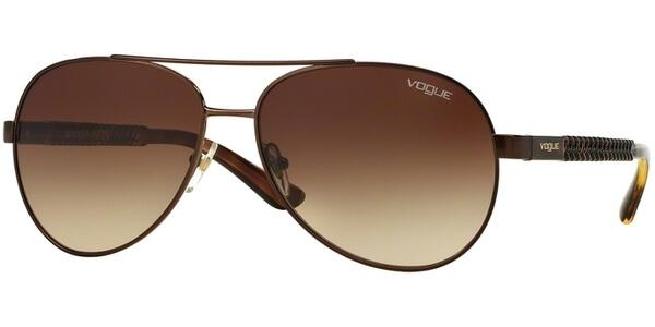 Sluneční brýle Vogue model 3997S, barva obruby hnědá lesk, čočka hnědá gradál, kód barevné varianty 93413.