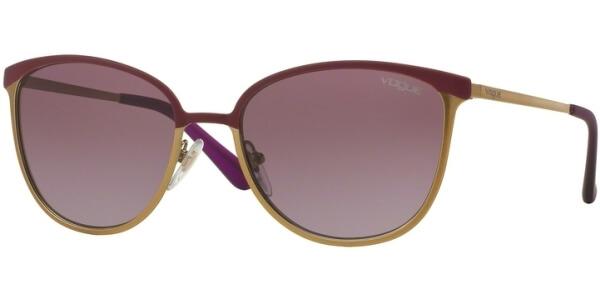 Sluneční brýle Vogue model 4002S, barva obruby fialová mat zlatá, čočka vialová gradál, kód barevné varianty 994S8H.
