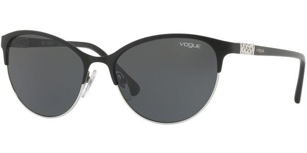 Sluneční brýle Vogue model 4058SB, barva obruby černá mat stříbrná, čočka šedá, kód barevné varianty 35287.