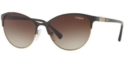 Sluneční brýle Vogue model 4058SB, barva obruby hnědá lesk zlatá, čočka hnědá gradál, kód barevné varianty 99713.