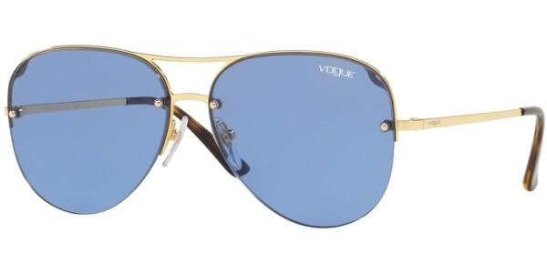 Sluneční brýle Vogue model 4080S, barva obruby modrá lesk zlatá, čočka modrá, kód barevné varianty 28076.