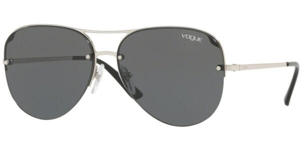 Sluneční brýle Vogue model 4080S, barva obruby černá lesk stříbrná, čočka šedá, kód barevné varianty 32387.
