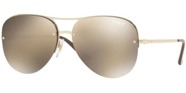 Sluneční brýle Vogue model 4080S, barva obruby zlatá lesk hnědá, čočka zlatá zrcadlo, kód barevné varianty 8485A.