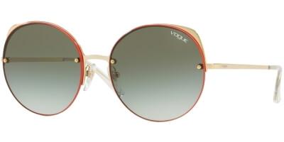 Sluneční brýle Vogue model 4081S, barva obruby oranžová lesk zlatá, čočka zelená gradál, kód barevné varianty 8488E.