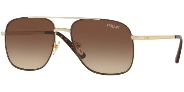 Sluneční brýle Vogue model 4083S, barva obruby hnědá lesk zlatá, čočka hnědá gradál, kód barevné varianty 84813.