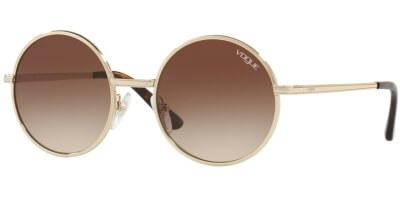 Sluneční brýle Vogue model 4085S, barva obruby zlatá lesk, čočka hnědá gradál, kód barevné varianty 84813.