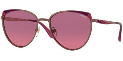 Sluneční brýle Vogue model 4151S, barva obruby červená mat, čočka růžová gradál, kód barevné varianty 507420.