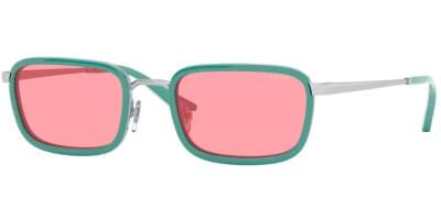 Sluneční brýle Vogue model 4166S, barva obruby tyrkysová lesk stříbrná, čočka růžová, kód barevné varianty 512284.