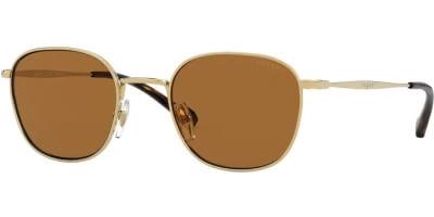 Sluneční brýle Vogue model 4173S, barva obruby zlatá lesk, čočka hnědá polarizovaná, kód barevné varianty 28083.